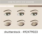 eye makeup template vector | Shutterstock .eps vector #492479023