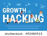 growth hacking concept... | Shutterstock .eps vector #492484513
