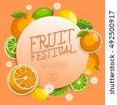fruit festival   fruit elements ... | Shutterstock .eps vector #492500917