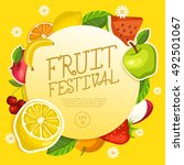 fruit festival   fruit elements ... | Shutterstock .eps vector #492501067