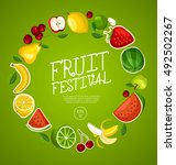 fruit festival   fruit elements ... | Shutterstock .eps vector #492502267