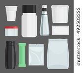 cosmetics containers vector set.... | Shutterstock .eps vector #492503233