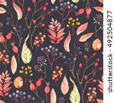 abstraction seamless pattern... | Shutterstock .eps vector #492504877