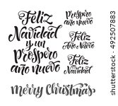 vector spanish merry christmas... | Shutterstock .eps vector #492507883