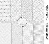 set of eight seamless patterns. ... | Shutterstock .eps vector #492516007