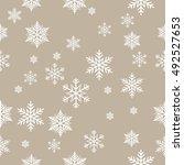 snowflake vector pattern. | Shutterstock .eps vector #492527653