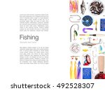 Various Fishing Tackle On Whit...