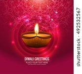 abstarct happy diwali background | Shutterstock .eps vector #492532567