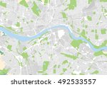 vector city map of newcastle... | Shutterstock .eps vector #492533557