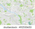 vector city map of glasgow ... | Shutterstock .eps vector #492533653