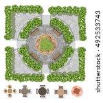 landscape design composition... | Shutterstock .eps vector #492533743