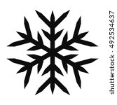 snowflake vector icon for... | Shutterstock .eps vector #492534637