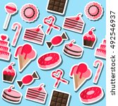cafe and confectionery icon set.... | Shutterstock . vector #492546937