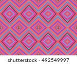 seamless colorful ethnic pattern | Shutterstock .eps vector #492549997
