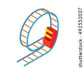 swing roller coaster icon in... | Shutterstock .eps vector #492552037