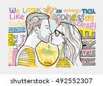 motivation hand drawn vector... | Shutterstock .eps vector #492552307