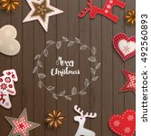 christmas background  small... | Shutterstock .eps vector #492560893