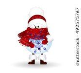 christmas cute  funny     baby...   Shutterstock .eps vector #492575767