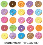 donuts   Shutterstock .eps vector #492639487