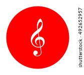 music violin clef sign. g clef. ... | Shutterstock .eps vector #492652957