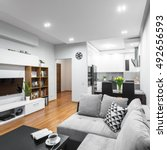 light and spacious flat in new... | Shutterstock . vector #492656593