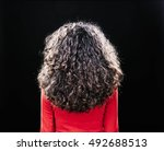rear photo of curly woman... | Shutterstock . vector #492688513