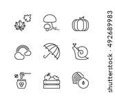 thin line icons set about... | Shutterstock .eps vector #492689983