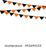 halloween garlands | Shutterstock .eps vector #492694153