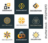 a collection of logos for... | Shutterstock .eps vector #492694693