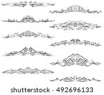 calligraphic design elements ... | Shutterstock .eps vector #492696133