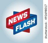 news flash arrow tag sign. | Shutterstock .eps vector #492698017