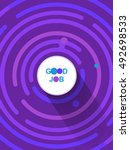 good job template. place for... | Shutterstock .eps vector #492698533