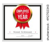 employee of the year... | Shutterstock .eps vector #492702343