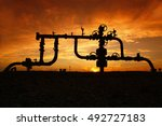 pipes and valves   | Shutterstock . vector #492727183