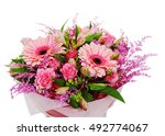 colorful flower bouquet... | Shutterstock . vector #492774067