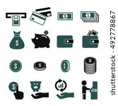 money  currency icon set | Shutterstock .eps vector #492778867