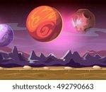 cartoon alien fantastic... | Shutterstock .eps vector #492790663