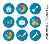 business pie chart. growth...   Shutterstock .eps vector #492805117