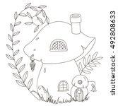 vector illustration. fairy... | Shutterstock .eps vector #492808633