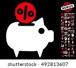 piggy bank pictograph with...