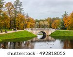 Autumn Landscape. Park With...