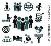 teamwork  meeting  seminar icon ... | Shutterstock .eps vector #492824227