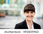 portrait of smiling confident... | Shutterstock . vector #492835963