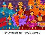vector illustration of indian...   Shutterstock .eps vector #492868957