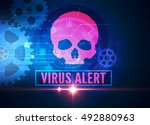 computer security virus | Shutterstock . vector #492880963