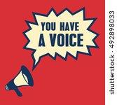 you have a voice retro speech... | Shutterstock .eps vector #492898033