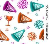 cheerleading. seamless pattern...   Shutterstock .eps vector #492901723