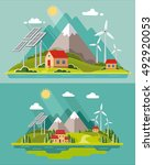 eco friendly. environmental... | Shutterstock .eps vector #492920053