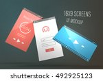 modern dynamic mockup for app... | Shutterstock .eps vector #492925123