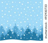 winter landscape background... | Shutterstock .eps vector #492930733